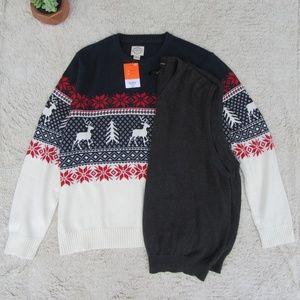 St JOHNS BAY XXL nordic sweater vest lot Christmas
